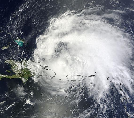 A kép 2011. augusztus 22-én készült, amikor a hurrikán és a viharzóna központja elhagyta Puerto Ricót.