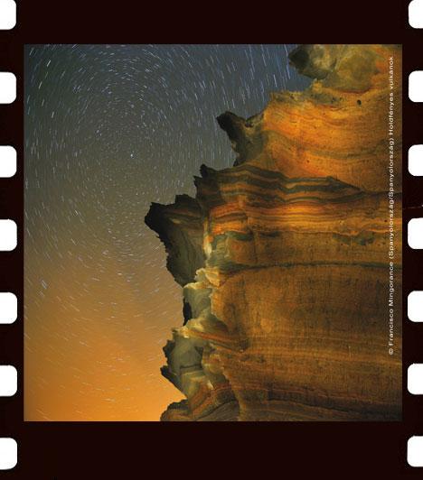 Francisco Mingorance: Holdfényes vulkánok  Francisco Mingorance természetfotós számos lapban publikál és fotóiból több könyv is megjelent már. Holdfényes vulkánok című képe olyan vulkáni csúcsokat, mélyedéseket és krátereket ábrázol, melyeket a szél és az eső koptatott. Megteremtve ezáltan egy kicsorbult tájat, tele meglepő formákkal és színekkel.