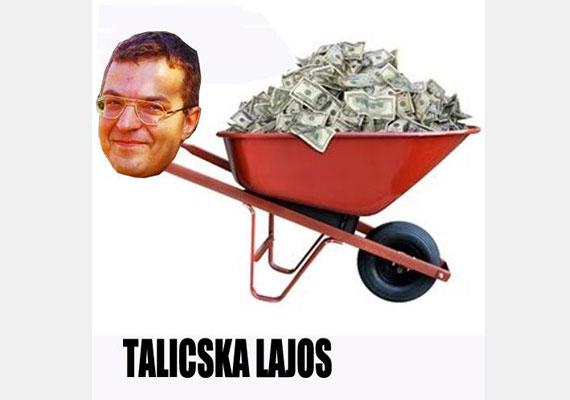Simicska Lajos, a Közgép tulajdonosa, ahogy az internetezők látják.
