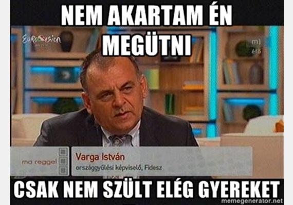 Varga Isvtán fideszes képviselő is mém lett, miután a családon belüli erőszak kapcsán olyat mondott a parlamentben, ami minden jó érzésű embernél kicsapta a biztosítékot. Részletek itt. »