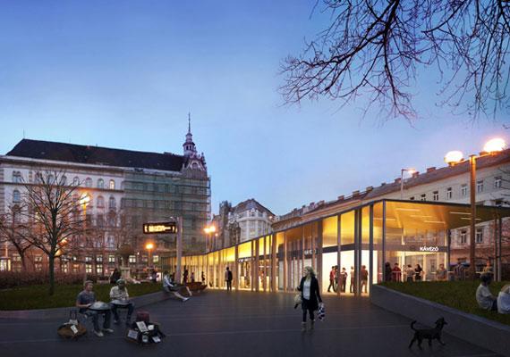 Az Arany János utca megállójának épületét nem bontják el, hanem átalakítják egy, a mainál sokkal modernebb formában.
