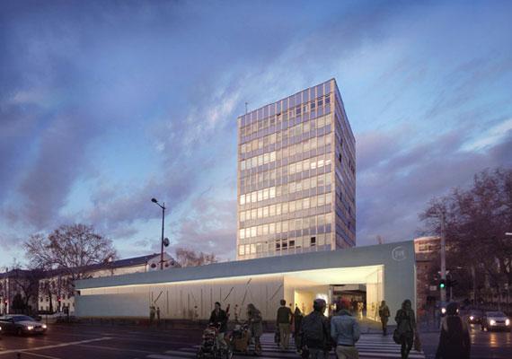 A Klinikák állomás a mostaninál nemcsak modernebb, de informatívabb is lesz. Ki tudná elvéteni a megállót, amin három méter magas betűk hirdetik, hol található?
