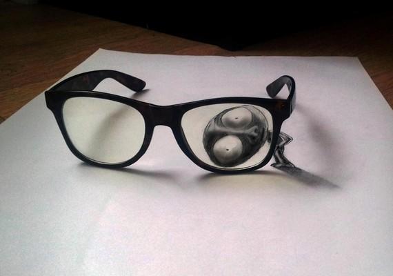 Ramon Bruin szemüvegen átnéző kis figurája.