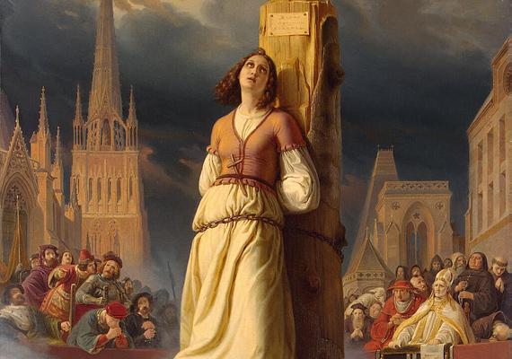 Jeanne d'Arc kilenc nap alatt feloldotta az angolok ostromzárját a Loire völgyében. Később máglyahalálra ítélték, de később - ártatlansága bebizonyításával - szentté avatták. Ő Franciaország védőszentje.