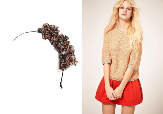 A Pimkie virágmintás hajráfja laza, sportos szerelés, és egyszínű anyagok mellett érvényesül a legjobban.