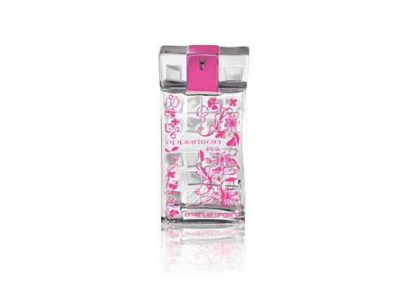 Emanuel Ungaro Apparation Pink nevű illata a körte, a jácint, a rózsa, az írisz, a málna és a pink bors illatával frissít fel. Ára 5750 forint.
