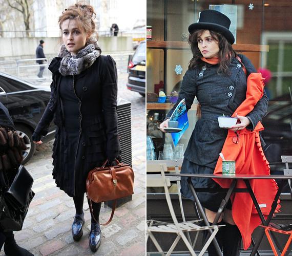 Szintén a Harry Potter filmekből ismert Helena Bonham Carter a hétköznapi életben is úgy öltözik, mintha még mindig a mágusvilágban járna-kelne. Pár maskarától igazán megszabadulhatna.