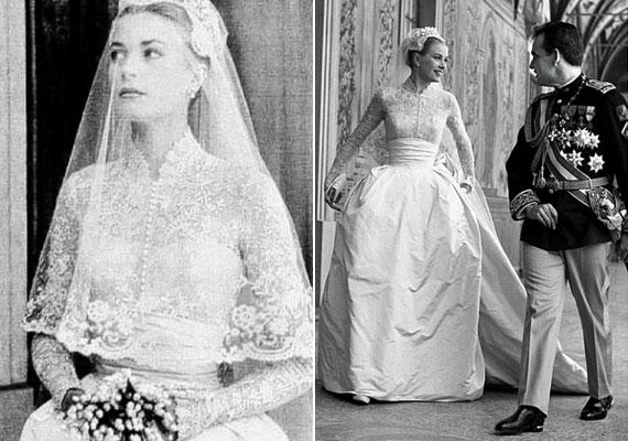 Grace Kelly Helen Rose által tervezett ruhája száz méter selyemből készült, de az árát tekintve ez is csak a második helyre volt elég.