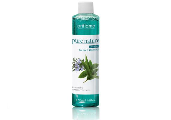 Az Oriflame Pure Nature 2 az 1-ben arclemosó és arctonik rozmaringgal és teafával készül. Előbbi tisztítja a bőrt, utóbbi nyugtatja azt.