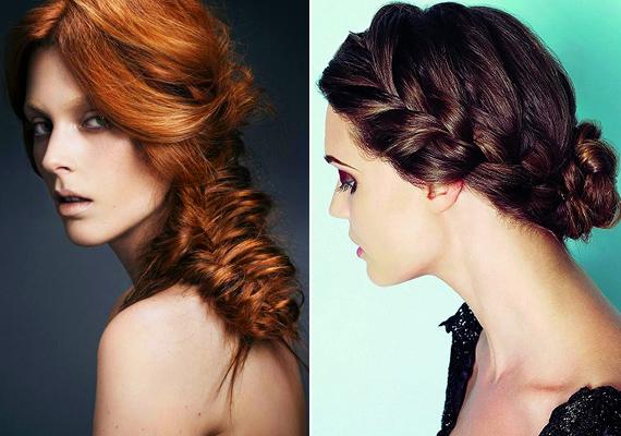 Fond be egy vagy két copfba a hajad hajmosás után, és hátul fogd össze. Hagyhatod lelógva, de akár kontyként is viselheted a tarkódon.