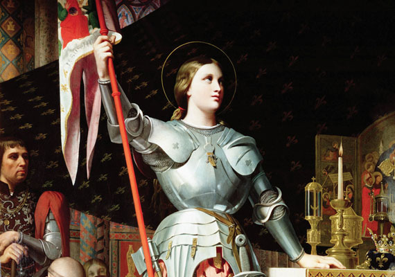 Jeanne d'Arc, vagyis Szent Johanna a százéves háború idején vezette a francia nép felszabadító harcát az angolok ellen - állítólag isteni sugallat hatására. Győztes csatái megfordították a háború kimenetelét. 19 évesen halt máglyahalált.
