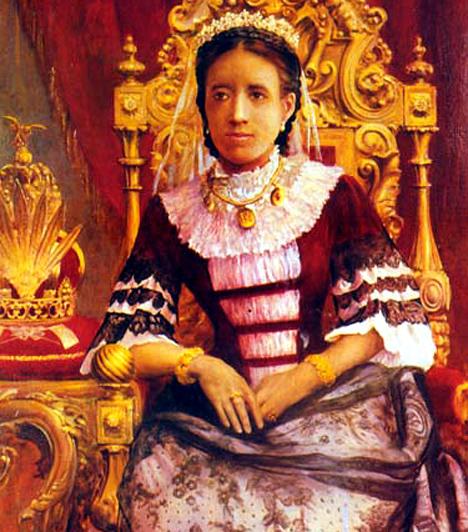 Queen Ranavalona  I. Ranavalona királynő 1835-ben került Madagaszkár trónjára. Nem véletlenül nevezték azonban a madagaszkári Véres Máriának, uralkodásának ideje alatt ugyanis egyes feltételezések szerint népének egyharmada halt meg. Kedvenc kivégzési módszerei közé tartozott a szikláról való levetés, illetve az élve megfőzés. Az európaiakat és a keresztényeket különös kegyetlenséggel üldözte, ami azonban hozzájárult ahhoz is, hogy a sziget ez idő alatt megőrizte függetlenségét.