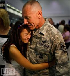 Apa és lánya - Fotó: Joe Raedle/Getty Images
