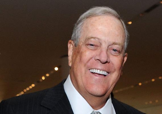 A világ hetedik leggazdagabb embere, a 73 éves David Koch 6 milliárd dollárral növelte meg a vagyonát egy év alatt. Testvérével, Charles Koch-hal együtt vezetik a Koch Industriest, amelynek számos területen vannak érdekeltségei, úgymint például kőolajvezetékek és -finomítók, építőanyag- és papírtörlőgyártás.