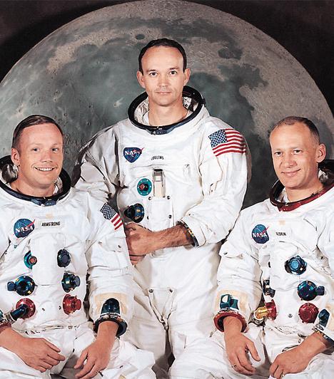 Neil Armstrong, Edwin Aldrin, Michael CollinsAz emberiség ősrégi álma, hogy egyszer elérje a csillagokat, a 20. században megvalósulni látszott: a szovjetek és az amerikaiak kijutottak az űrbe, és a történelemben először ember lépett a Holdra - Neil Armstrong volt az első, majd őt követte Aldrin, húsz perccel utána.Kapcsolódó cikk:Mégsem járt ember a Holdon? - 4 hatalmas tévhit »