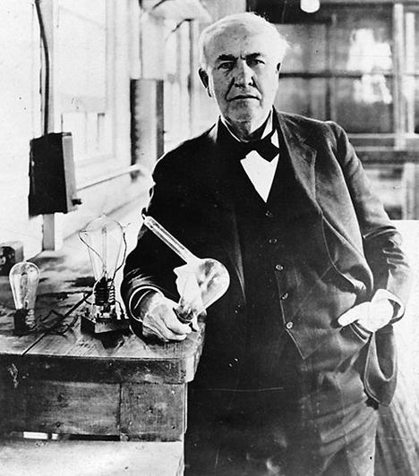 Thomas Alva Edison (1847-1931) Az amerikai Edison valóságos modern Prométheusz volt. Ő állította az elektromosságot az emberiség szolgálatába az általa feltalált izzólámpa segítségével. Emellett tökéletesítette a telefont, rögzítette az emberi hangot, és filmkamerát is készített.
