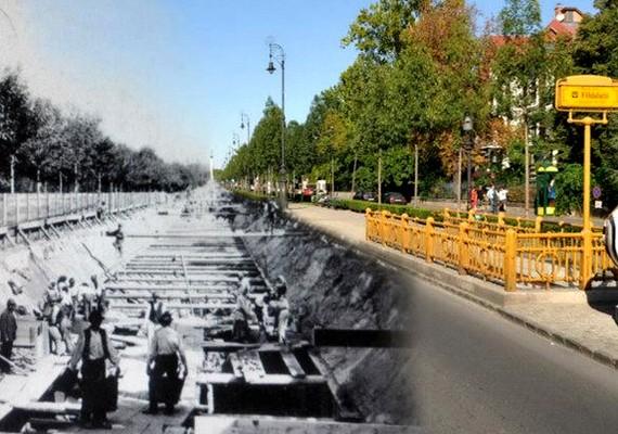 Az Andrássy út a Hősök tere felé nézve.