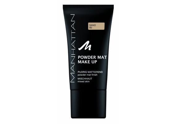 A Manhattan Powder Mat alapozó púder használata nélkül is mattítja a bőrt, így viszont kiemeli a száraz területeket.