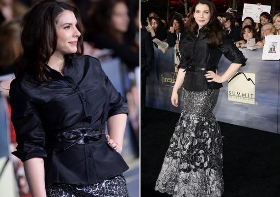Az Alkonyat-könyvek szerzőjének, Stephenie Meyernek nagyon jól állt a sellőszerű ruha.