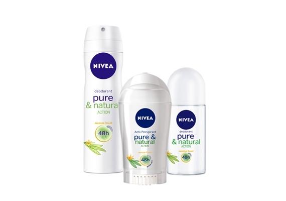 A Nivea Pure & Natural termékcsaládja nem tömíti el a pórusokat, alumíniumsó- és tartósítószer-mentes.