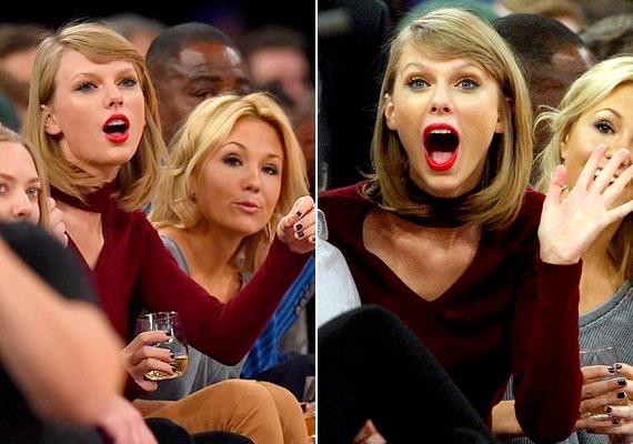 Taylor Swift is átvette a meccs hangulatát, az arcából ítélve úgy alakultak a dolgok, ahogyan szerette volna.