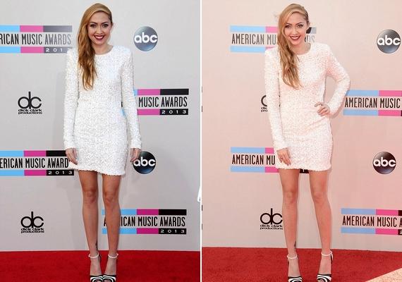 Sokak szerint túlragyogta húgát Miley 26 éves nővére, Brandi Cyrus, aki egy csillogó fehér miniruhában érkezett.