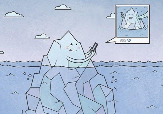 Amit másokról látsz a közösségi oldalakon, az gyakran csak a felszín, a jéghegy csúcsa. Jelen esetben szó szerint.