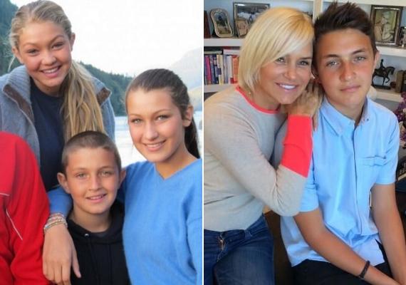 A tévénézők így emlékezhetnek rá: a bal oldali képen Gigivel és Bellával, a jobb oldali fotón édesanyjával, Yolandával látható.