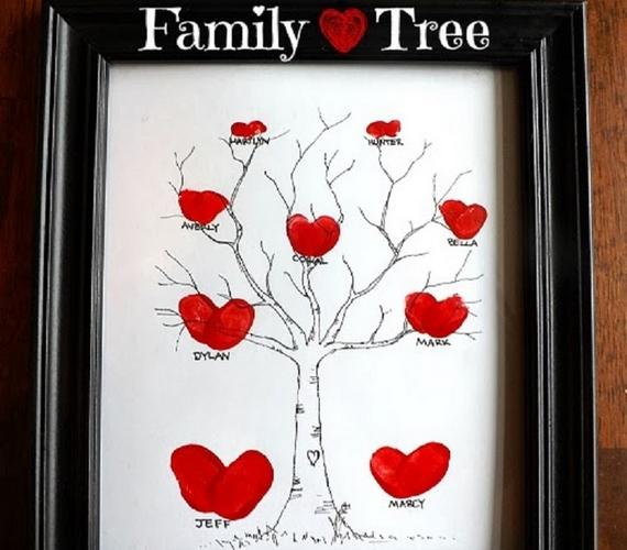 Trombitáld össze a családot, és készítsetek egy szép családfát ujjlenyomatokkal! Keretben a falon is jól mutat.