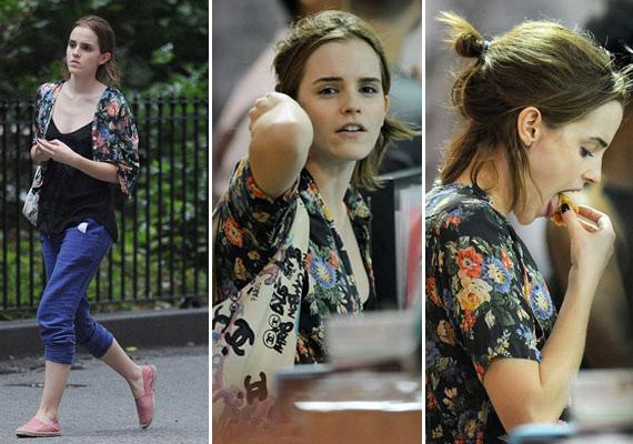 Néha még a mindig stílusos Emma Watson sem törődik azzal, hogyan szalad le a közeli étterembe.