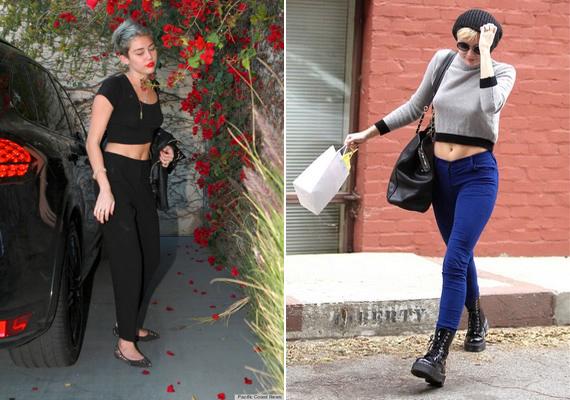 Miley Cyrus stílusa az utóbbi időben változott trendiből toprongyossá.