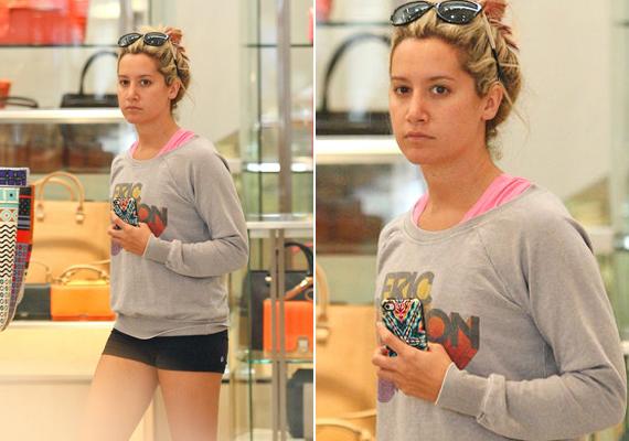 Ashley Tisdale smink nélkül sem éppen csúnya, de az arca teljesen átlagos.