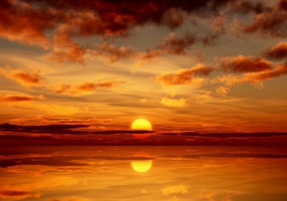 Augusztusi naplemente a Karib-tenger felett, Aruba szigetén. Kattints ide a nagyobb felbontású képért!