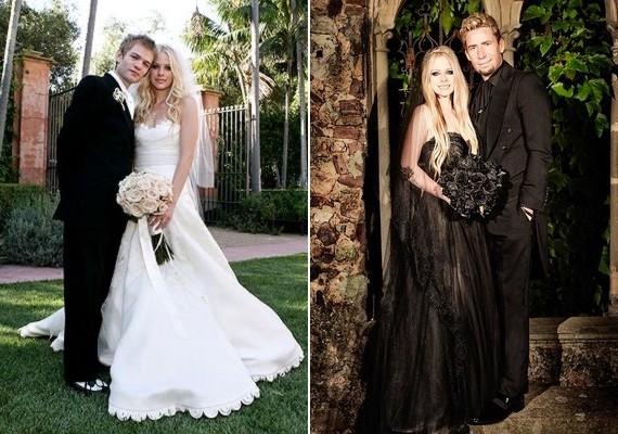 Avril először fehérben ment férjhez a Sum 41 énekeséhez,Deryck Whibley-hez, a második házasságkötésén pedig teljesen fekete esküvői ruhát viselt Chad Kroeger, a Nickelback frontemberének oldalán.
