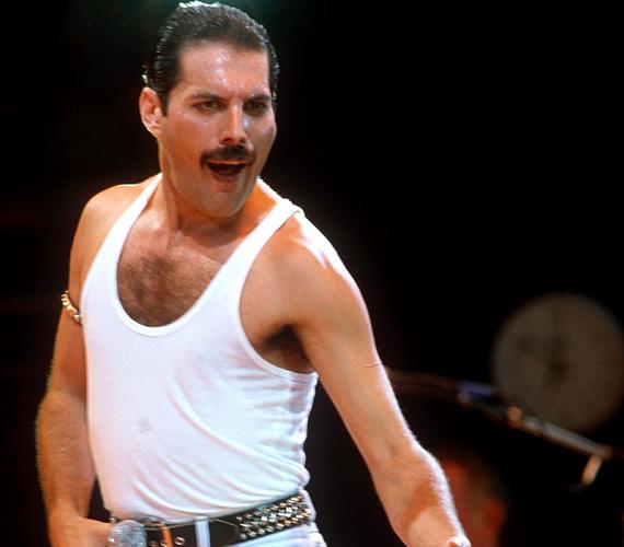 A Queen legendás énekese, Freddie Mercury jellegzetes bajusza nélkül szinte felismerhetetlen.