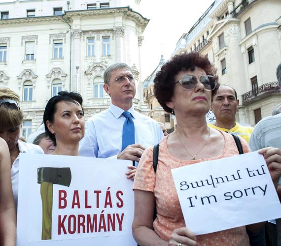 Természetesen Gyurcsány Ferenc is tüntetett.