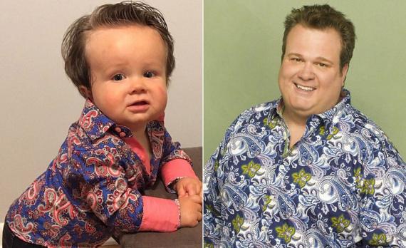 A kis Charlie pont úgy néz ki, mint a Modern család című sorozat Cameronja.