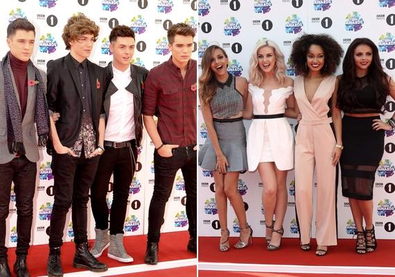 Egy fiúbanda és egy lánybanda is megjelent az eseményen: az egyre népszerűbb brit Union J, valamint az angolX-Factor-győztese, Little Mix.