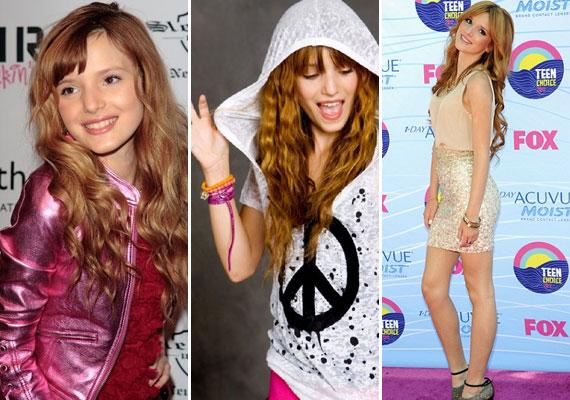 Bella Thorne néhány éve, de még a tavalyi Teen Choice Awardon is sokkal kislányosabb volt.