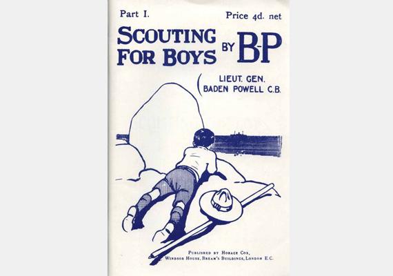 A Scouting for Boys, vagyis a Cserkészet fiúknak Robert Baden-Powell nevéhez fűződik, sőt, az illusztrációk is az ő keze munkáját dicsérik. A művet 1908-ban publikálták, és ahogyan a nevéből is kitűnik, a cserkészéletről szól. Ez volt a témában megjelent első alkotás, amelyet magyarul is kiadtak. 150 millió példány kelt el belőle világszerte.