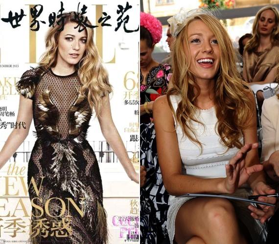 Blake a címlapfotón sokat sejtető öltözéket visel, a Gucci egyik őszi darabját - a tollat nemcsak a ruháin, de a kiegészítőkön is kedveli.