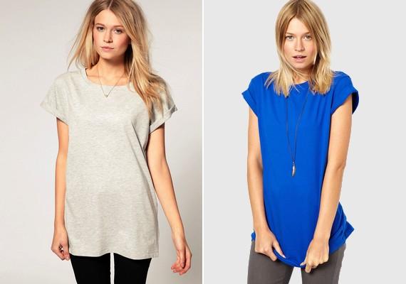 Egy hosszú és bő póló is lehet csinos:dobd fel egy nyaklánccal, tűrd fel az ujját, vagy - ha takarja a popsidat - cicanadrággal is felveheted.