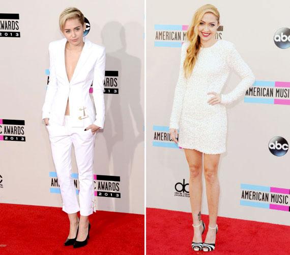 Brandi nagyon szép volt ebben a fehér Rachel Zoe ruhában a 2013-as American Music Awardson, amelyen Miley is fellépett.