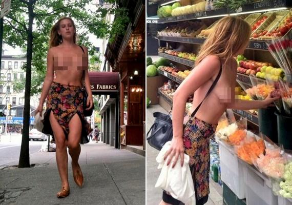 Scout Willis tavasszal sokkolta a járókelőket, amikor egy szál szoknyában, felsőruházat és melltartó nélkül lejtett végig New York utcáin, és még vásárolni is megállt. Az akcióval az volt a célja, hogy tabukat döntögessen: azt akarja elérni, hogy az emberek a meztelen női mellbimbókat is kezeljék ugyanolyan természetesen, mint a férfiakét. És persze, hogy írjanak róla az újságok.