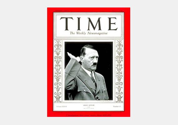 Az osztrák születésű Adolf Hitler diktatúrája alatt ártatlanok milliói haltak meg. 1938-ban a Time magazin az év emberének választotta.