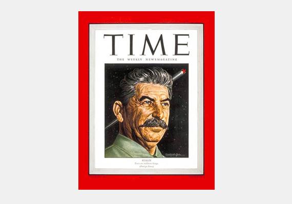 Az egykori Szovjetunió diktátora, Joszif Sztálin is szerepelt a Time magazin címlapján.