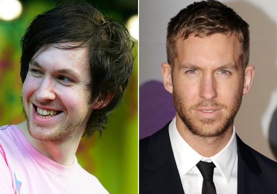 Íme, Calvin Harris 2008-ban és napjainkban: a most 31 éves DJ vitathatatlanul előnyére változott az elmúlt hét évben.