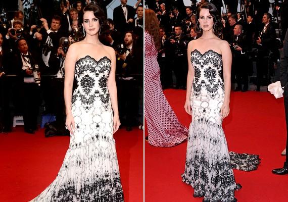 A fesztivál slágere a fekete-fehér kombináció. Lana Del Rey is ezt a két színt választotta.