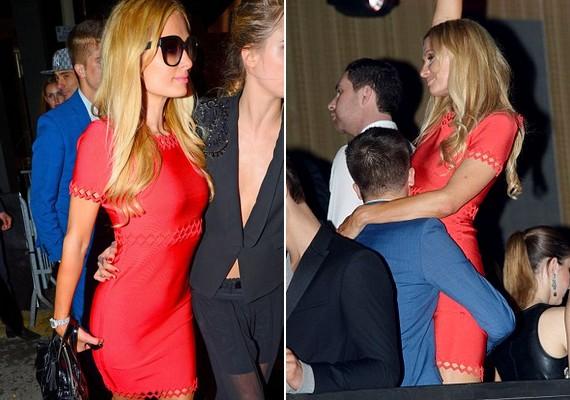Paris Hilton egy mini koktélruhában bulizott szerelmével,River Viiperivel.