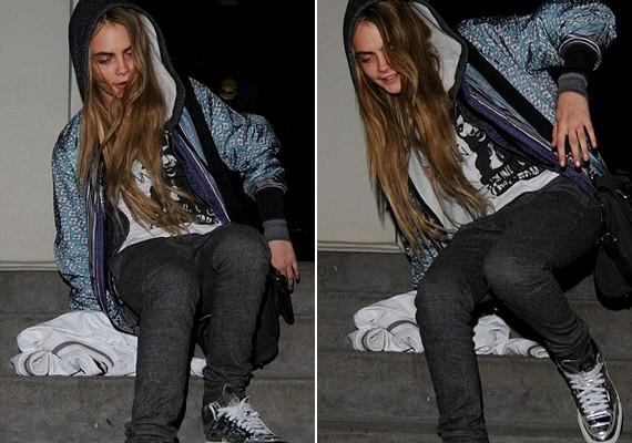 Cara hajnalban távozott Dave Gardner londoni lakásából. A lépcsőn megbotlott vagy megcsúszott, és fenékre ült.